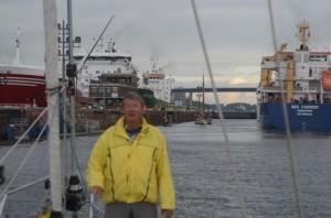 På vej ind i Kieler Kanalen