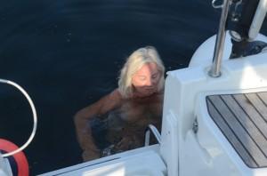 vandet var lidt køligt